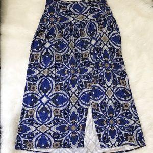 Anthropologie Maeve Maxi Skirt blue pattern Med
